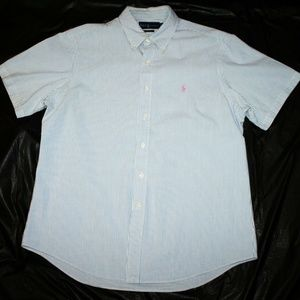Ralph Lauren Custom Fit Short Sleeve Button Down S